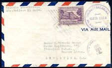 EL SALVADOR - SALESIAN, TO ARGENTINA STA. TECLA Cancel on Air Mail Cover 1949 VF