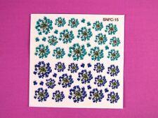 Glitter Gel Nail Art Flower Sticker Floral Decals N-S-NFC15