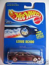 HOT WHEELS #262 BLUE CARD LEXUS SC400 METALLIC DARK RED