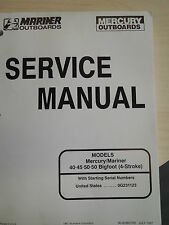 Mercury outboards service manual 40 45 50 50 Bigfoot 4 stroke Og2311123 and up