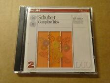 2-DISC CD / SCHUBERT - GRUMIAUX TRIO - BEAUX ARTS TRIO: COMPLETE TRIOS (PHILIPS)