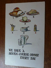 Lot05f 'We have a SEVEN-COURSE Dinner Every Day' W.B. 120 Postcard c1925