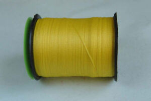 100m Fil PLAT montage JAUNE 6/0 mouche fly tying thread yellow