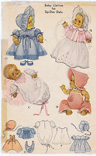 """713 Vintage Chubby Baby Doll Pattern - Size 13"""" - Year 1956"""