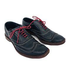 Allen Edmonds Men's black red laces Neumok Wingtip Leather Shoes 9.5 D