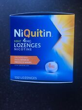 NiQuitin Mint Lozenges- 4mg Pack of 132 Lozenges - stop smoking. 03/21