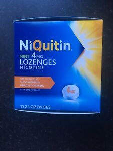 NiQuitin Mint Lozenges- 4mg Pack of 132 Lozenges - stop smoking. Long Ex Date