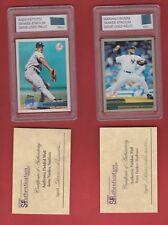 2010 Topps Yanks Champ Petite /Rivera 2 card lot Pc of Wall /Yankee Stadium