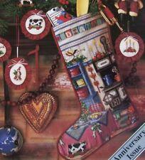 Holiday Kitchen Stocking, CROSS STITCH PATTERN, Beautiful Christmas Stocking