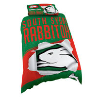 NRL Doona Quilt Cover With Pillow Case - South Sydney Rabbitohs - All Sizes