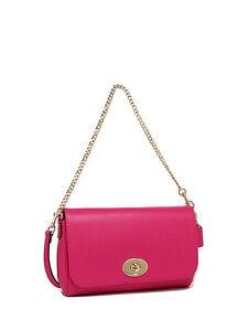 NWT Coach Crossgrain Mini Ruby Crossbody Handbag in Pink Ruby F 34604 $295