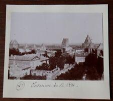 Photographie ancienne 1899  Carcassone Intérieur de la Cité