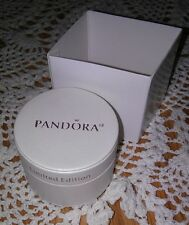 AUTHENTIC PANDORA JEWELRY LIMITED EDITION CREAMY SATIN ROUND BEAD/CHARM GIFT BOX