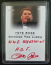 2011 LEAF PETE ROSE LEGACY RARE 8/10 WWE WWF HOF AUTO INSCRIPTION REDS PHILLIES