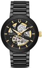 Bulova Men's 98A203 Black IP Stainless Steel Skeleton Automatic 42mm Watch