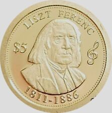 COOK IS.= 2014 = 5 DOLLARS = GREAT COMPOSERS = FERENC LISZT = GOLD PROOF