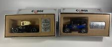 set of 2 corgi collectors classics 1915 model T 1910 12/16 renault 1985 c862/2