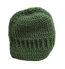 Winter Knitted Hat Cap Girls Handmade Green