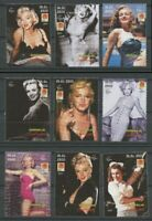 Marilyn Monroe Movie Star mnh set 9 stamps 2001 Somalia 75th Birth Anniversary