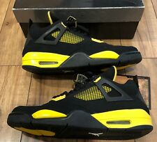 New 2006 Air Jordan 4 IV Thunder Black Yellow LS Athletic Sneakers Shoes Size 13