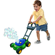 Play Day Bubble Mower Kids Toy Machine Lawn Outdoor Cart Soap Bubbles Solution