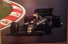 Ayrton Senna JPS Lotus 98T Renault V-6t 1986 Extremely Rare Car Poster!