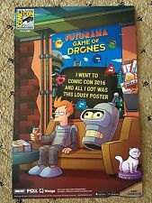 SDCC 2016 FUTURAMA 11x17 POSTER GAME OF DRONES NUMBERED EXCLUSIVE RARE HTF
