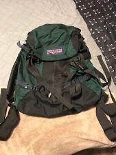 Vintage RARE Jansport Large Hiking Backpack Bag Camping CarryOn Tahoma green 90s
