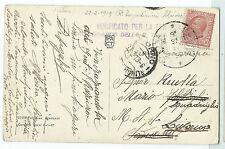 STORIA POSTALE 1919 ALBANIA 10 CENTESIMI SU CARTOLINA ILLUSTRATA VALONA D/7888