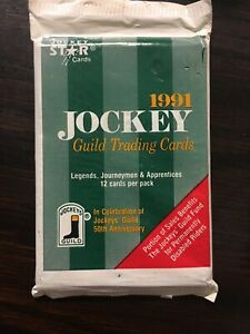 1991 Jockey Star Guild Trading Cards, 220 Card Set  Unopened Pack NEW (12 Cards)