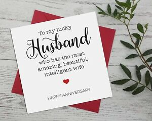 Wedding Anniversary, funny, banter for husband from wife greeting cards rude A15