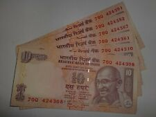 INDIA PAPER MONEY - 20 X RS.10/- OLD  'MG'  NOTES - D.SUBBARAO-2009-MIXED # 20C
