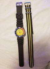 Rare Seiko Men's Diver150M Scuba Date Automatic 7002-700J Yellow Pepsi Bezel