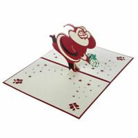 Handgemachte leere 3D Pop-Up Grusskarte Postkarten Weihnachtsmann mit passe F9B3