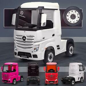 Mercedes-Benz Actros Licensed Ride On Car With 4WD Truck Electric Battery Power