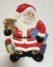 Fitz And Floyd Happy Holidays Santa Canape Appetizer Snack Plate New In Box Xmas