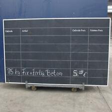Kreidetafel schwarz 150x240 cm, Angebotstafel Preistafel beidseitig Beschriftet