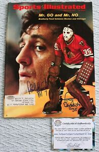 Sports Illustrated Mr. GO and Mr. NO Phil Esposito and Tony Esposito Signed