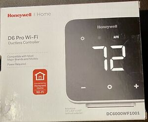 Honeywell D6 Pro Wi-Fi Ductless Controller Black