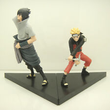 Naruto Uchiha Sasuke & Uzumaki (2Pcs/Set) Naruto PVC Action Figures Toys Set NEW