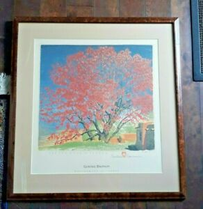 "GUSTAVE BAUMANN Lithograph ""Cottonwood in Tassle"" Framed and Signed and Numbered"