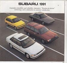 1991 Subaru Line Sales Brochure Justy Loyale XT6 - CAR FUN /L8