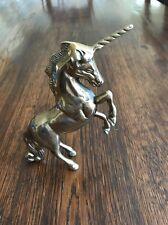 "Vintage Brass Unicorn - 6"" Tall"