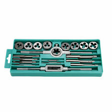 TAP & DIE Set 20 Pcs METRIC with Case Screw Extractor Remover Chasing Tool