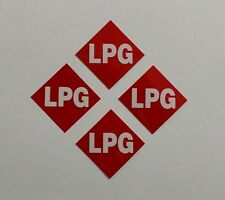 LPG Stickers x4  --Reflective Red LPG Number Plate Stickers--