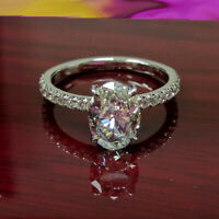 2.00Ct Oval-Cut VVS1/Diamond Solitaire Brilliant Engagement Ring 14k White Gold