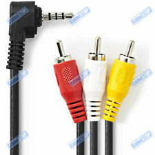 2m 4 Pole 3.5mm Jack to 3 RCA Triple Phono Composite AV Camcorder Camera Cable