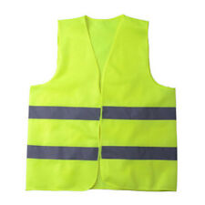 Fluorescent Yellow High Safety Visibility Reflective Vest Warning Stripe Jacket