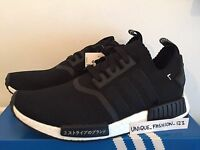 ADIDAS NMD RUNNER PRIMEKNIT PK JAPAN BLACK WHITE UK 6 7 8 9 10 11 12 TRIPLE OG