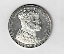 Preussen Wilhelm König Augusta Königin Silber Zur Krönung 1861